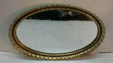 Vintage Oval Brass Vanity Perfume Mirror