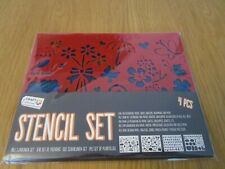 Stencil set with 4 pieces