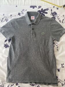 LACOSTE LIVE GREY POLO SHIRT SIZE 2 Amazing Condition Hardly Worn