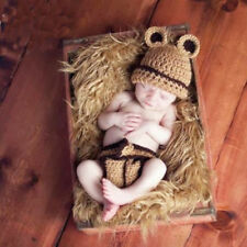 Newborn baby boy girls Mouse outfits Crochet knit Photography Prop Costume