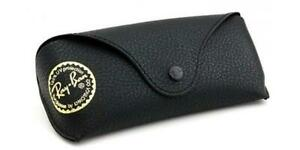 Ray Ban Black Sunglasses Glasses Case with Free Ray Ban Cleaning Cloth
