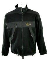 Mountain Hardwear Mens Large Black Gray Full Zip Wind Stopper Fleece Jacket