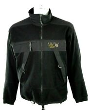 Mountain Hardwear Mens Large Black Gray Full Zip Wind Stopper Fleece Jacket