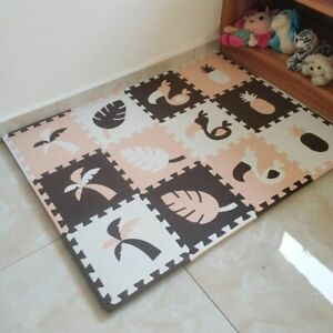 Foam Puzzle Kids Rugs Carpet Interlocking Baby Play Mat For Children Room Tiles