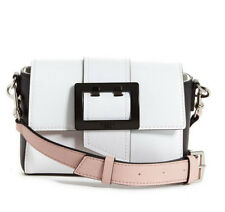 NWT Guess Tori Crossbody mini Satchel Flap purse Handbag White Pink multi