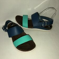 Merrell Around Town Poseidon Women's 7 Blue Green Leather Slingback Sandals