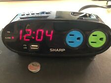 SHARP LED ALARM CLOCK -  AC AND USB OUTLETS SPC136- BATTERY BACK UP REDUCED