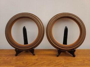 "Set 2 HAMPSHIRE Van Hygan Smythe Faux Wood/Plastic 8.5"" Collector Plate Frames"