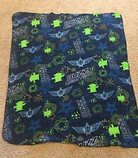 Toy Story Buzz Lightyear Fleece Blanket Throw Navy blue 48x39