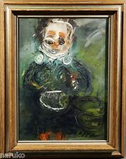 MOST UNUSUAL ABSTRACT FIGURE for those that enjoy such work OIL PAINTING  FRAMED