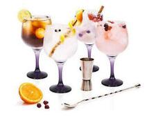Gin tonic GIFT SET cocktail wine balloon glasses 730ML JIGGER/SPOON purple foot