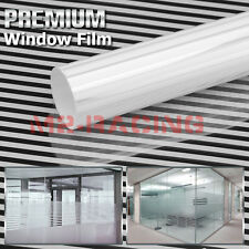 White Line Glass Film Static Cling Office Window Pattern Decoration Privacy #43