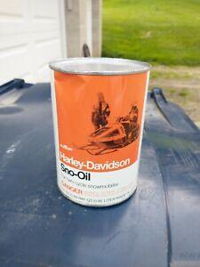 Vintage Harley Davidson Snowmobile Oil Can