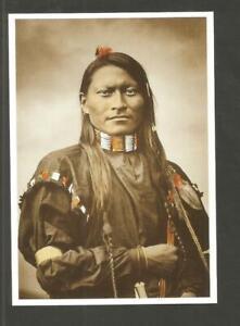 CARTE POSTALE INDIEN AMERIQUE CHEYENNE SCOUR PANTHERE ARMEE