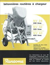 Equipment Brochure - Ransome - NV 24 32 43 - Cement Mixer - FRENCH lang (E4470)