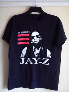 JAY Z 2009 T SHIRT THE BLUEPRINT 3 BLACK WHITE RED SIZE M MEDIUM VGC JAY-Z RAP