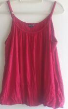 City Chic Red Wine Bubble Hem Cami Top