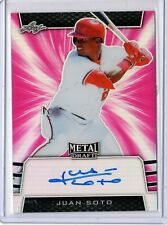 2019 Leaf Metal Draft Pink ON CARD Auto Juan Soto 14/20 Nationals