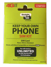 Straight Talk SIM Card for AT&T GSM Network Activation Kit Free shipping