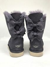 UGG Meilani Suede Wool Double Suede Bow Nightfall Color U.S Size 7 CUTE!