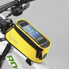 Roswheel Bicycle Smartphone Bag With Touchscreen Cover Front Mounted in Yellow
