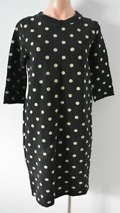 Zara Dress Size Medium Black Yellow Polkadot Tunic Knit Shift
