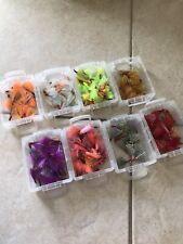 12 Pompano Jig Teasers (Premium Sharp Hook SIZE 2 Assorted Colors)