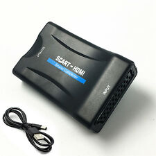 1080P SCART To HDMI Video Audio Upscale Converter Adapter for HD TV DVD Box JT
