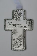 u Pray Often trust God Lord Hear Our Prayers CROSS ORNAMENT ganz