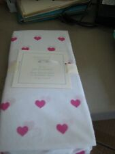POTTERY BARN KIDS PINK HEARTS  CRIB FITTED SHEET REALLY ADORABLE