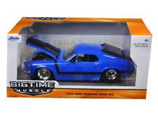 JADA BIGTIME 98026 1970 70 FORD MUSTANG BOSS 429 1/24 DIECAST MODEL CAR BLUE