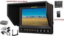 "Lilliput 7"" 662/S IPS 3G-SDI SDI/HDMI Cross Conversion+ V Mount Plate + Suitcase"