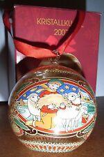 HUTSCHENREUTHER Weihnachtskugel aus GLAS von 2007 NEU