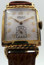 Vintage Gruen Curvex Precision 10K Yellow Gold Running Watch Only