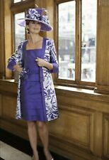 Presen Dress & Coat MASSIVE CLEARANCE...MOTHER OF THE BRIDE UK18 Purple & Silver