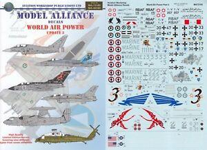 MODEL ALLIANCE DECALS 1/72 F/A-18 Tornado Typhoon F-16C EC-2 Hawkeye (RAAF/AMI)