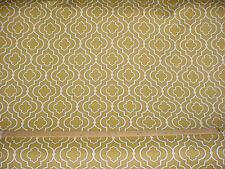 11+Y SWAVELLE / MILL CREEK MUSTARD / WHITE COTTON DRAPERY UPHOLSTERY FABRIC