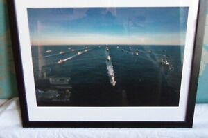 FRAMED PICTURE OF THE FLEET NAVY SHIPS