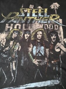 STEEL PANTHER Band T SHIRT Mens Large Pre Owned unisex rock metal L