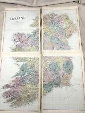 1891 Antique Map of Ireland Eire Irish Old Original 19th Century Maps