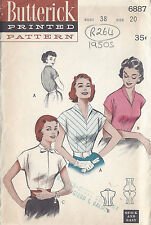 "1950s Vintage Sewing Pattern BLOUSE B38"" (R264)"