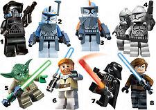 STAR WARS LEGO IRON ON T-SHIRT FABRIC TRANSFER YODA DARTH VADER LOT SL