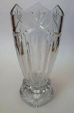 "Cristal D'Arques Venus 10"" Hurricane Candle Lamp 24% pbo Cut Lead Crystal Glass"