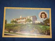 Vintage 1940s Linen PC Home of Jane Withers, Westwood Village LA.  California
