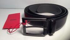 Hugo BOSS Baxter Patente Cuero Repujado Cinturón Con Hebilla De Pin-Negro Barnizada