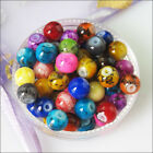 4mm 6mm 8mm 10mm 12mm Mixed Glass Chic Loose Round Ball Spacer Beads Charms
