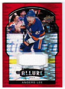 20/21 2020 UD ALLURE HKY BASE/ROOKIE RED RAINBOW JERSEY CARDS 1-100 U-Pick List