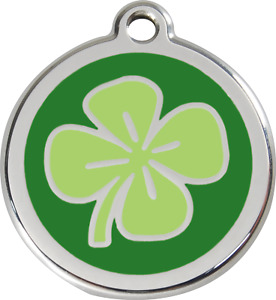 """Red Dingo """"Clover"""" Engraved Pet Dog & Cat ID Tag - Free Engraving"""