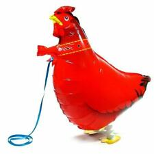 Pet Red Hen Balloon Birthday Party Walking Balloon with Legs and Lead