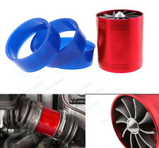 Supercharger Cold Red Air Intake Turbonator Gas Fuel Turbo Saver Fan For Ford